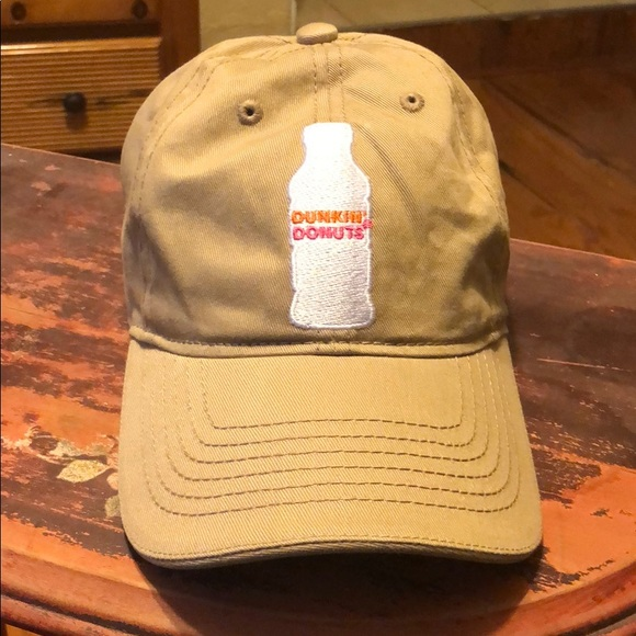 ced2d5932e799 Dunkin  Donuts cream beige dad hat uncle cap new